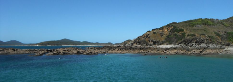 Snorkel location near Great Keppel Island